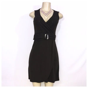 Brown Belted Sleeveless Dress X-Small